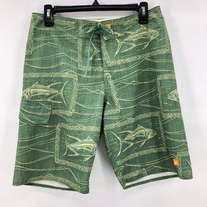 Like New Quicksilver green yellow swim suit